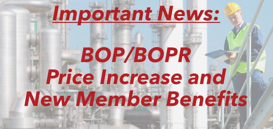 BOP/BOPR Price Increase
